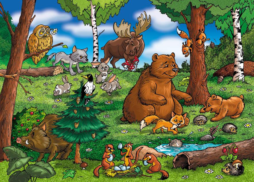 мультфильм про лесных зверей