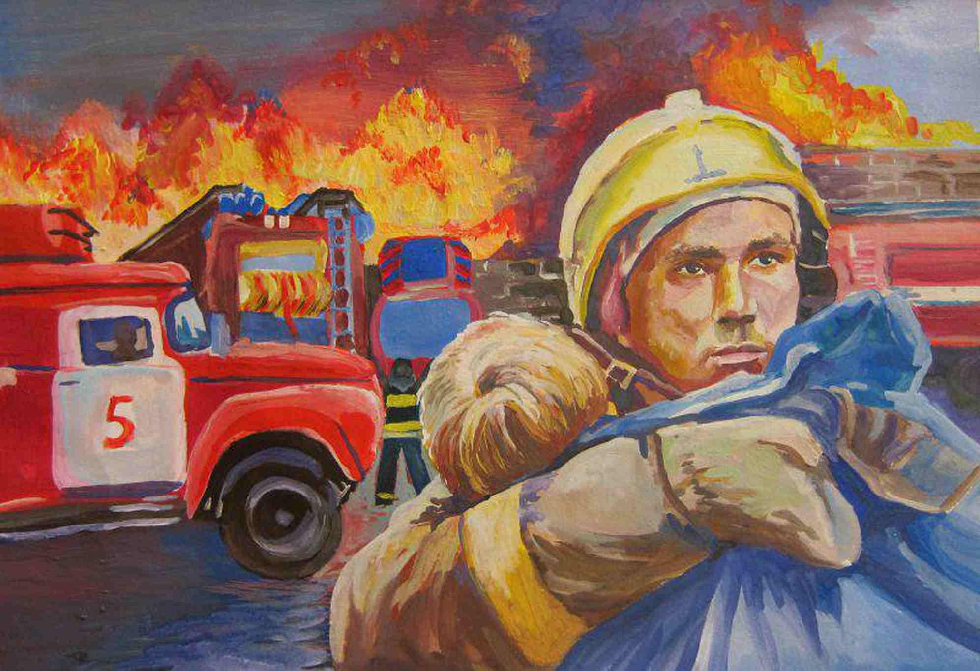 уникальности картинка спасение на пожар неясыть-самый крупный